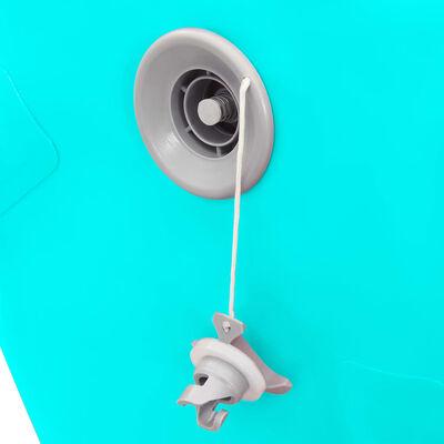 vidaXL Rouleau gonflable de gymnastique avec pompe 100x60 cm PVC Vert