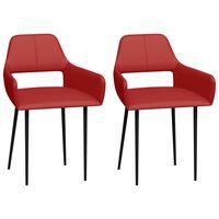 vidaXL Chaises de salle à manger 2 pcs Rouge Similicuir