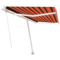 vidaXL Auvent manuel rétractable avec LED 400x300 cm Orange et marron