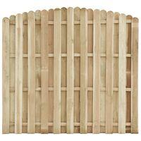 vidaXL Panneau de clôture Bois de pin imprégné 180x155-170 cm
