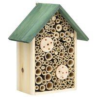 vidaXL Hôtel à insectes 2 pcs 23x14x29 cm Bois de sapin massif