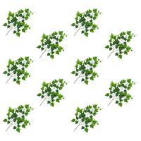 vidaXL 10 pcs Feuilles artificielles de raisin Vert 70 cm