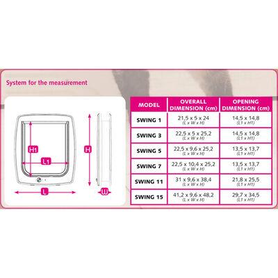 Ferplast Chatière manuelle à 4 voies Swing 3B Blanc 72102011