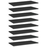 vidaXL Panneaux bibliothèque 8 pcs Noir brillant 60x30x1,5cm Aggloméré