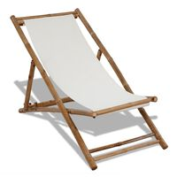 vidaXL Chaise de terrasse Bambou et toile