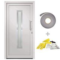 vidaXL Porte d'entrée Blanc 88x200 cm