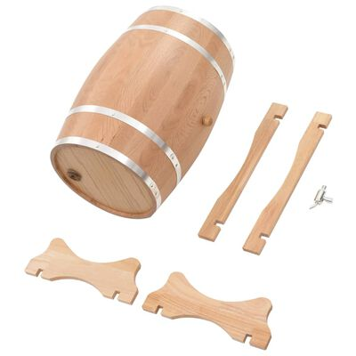 vidaXL Tonneau à vin avec robinet Chêne massif 35 L