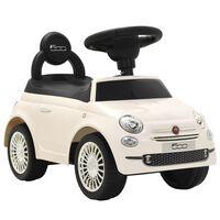 vidaXL Voiture à chevaucher Fiat 500 Blanche