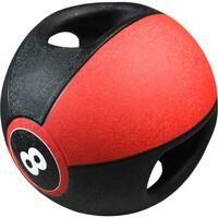 Pure2Improve Ballon médicinal avec poignées 8 kg Rouge