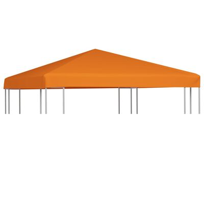 vidaXL Toile supérieure de belvédère 310 g / m² 3 x 3 m Orange