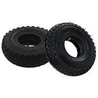 vidaXL 2 pneus 2 chambres à air 3.00-4 260x85 pour roue de diable