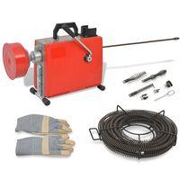 vidaXL Machine de nettoyage de tuyaux 250W 15 m x 16 mm 4,5 m x 9,5 mm