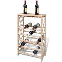 vidaXL Casier à bouteilles pour 25 bouteilles Bois de sapin solide