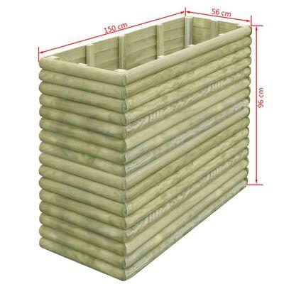 vidaXL Lit surélevé de jardin 150x106x96 cm Bois de pin imprégné 19 mm