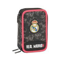SAFTA - Trousse à crayons triple Real Madrid Black 41pcs