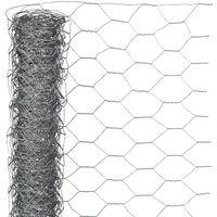 Nature Grillage métallique hexagonal 1 x 5 m 13 mm Acier galvanisé