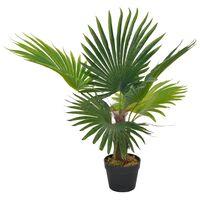 vidaXL Plante artificielle avec pot Palmier Vert 70 cm