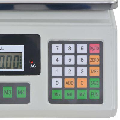 vidaXL Balance numérique 30 kg avec batterie rechargeable
