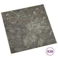 vidaXL Planches de plancher autoadhésives 20 pcs PVC 1,86 m² Gris