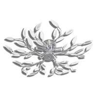 vidaXL Plafonnier avec bras en acrylique Blanc 5 ampoules E14