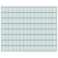 vidaXL Panneaux de clôture de jardin 2D 2,008x1,63 m 18 m total Vert