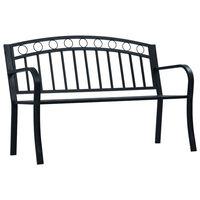 vidaXL Banc de jardin 125 cm Noir Acier