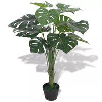 vidaXL Plante artificielle avec pot Monstera 70 cm Vert