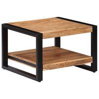 vidaXL Table basse 60 x 60 x 40 cm Bois d'acacia massif