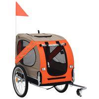 vidaXL Remorque de vélo pour chiens Orange et marron