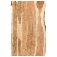 vidaXL Dessus de table Bois d'acacia massif 100x50-60x3,8 cm