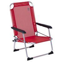 Bo-Camp Chaise de plage Copa Rio Lyon Rouge