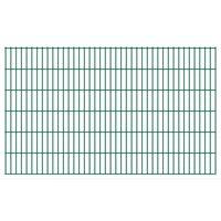 vidaXL Panneaux de clôture de jardin 2D 2,008x1,23 m 30 m total Vert
