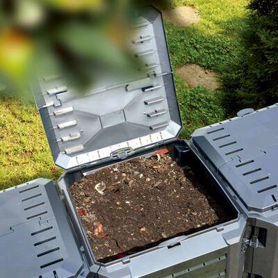vidaXL Composteur de jardin Noir 800 L
