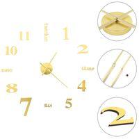vidaXL Horloge murale 3D Design moderne 100 cm XXL Doré