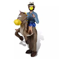 Costume de cow-boy et cheval gonflable