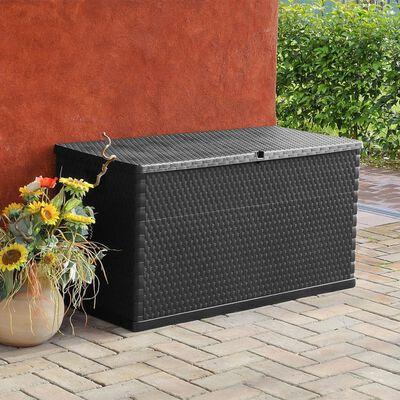 vidaXL Boîte de rangement de jardin Anthracite 120x56x63 cm