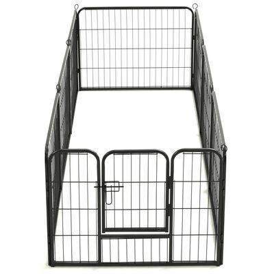 vidaXL Parc pour chiens 8 panneaux Acier 60 x 80 cm Noir