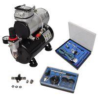 vidaXL Kit de compresseur professionnel avec 2 pistolets