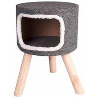 FLAMINGO Lit pour chat Nordic 35 x 50 cm Gris 560332