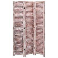vidaXL Cloison de séparation 6 panneaux Marron 210x165 cm Bois