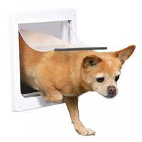 TRIXIE Chatière pour chiens à double sens Taille XS-S 25 x 29 cm Blanc