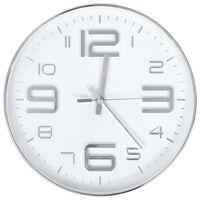 vidaXL Horloge murale 30 cm Argenté