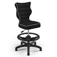 Entelo Chaise de bureau ergonomique pour enfants Petit VS01 Noir
