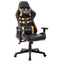 vidaXL Chaise de jeu Noir et doré Cuir artificiel