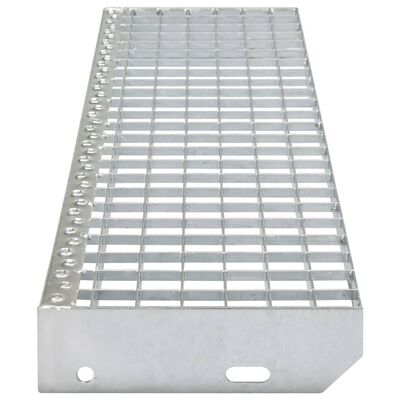 vidaXL Marches d'escalier 4 pcs Acier galvanisé pressé 900x240 mm,