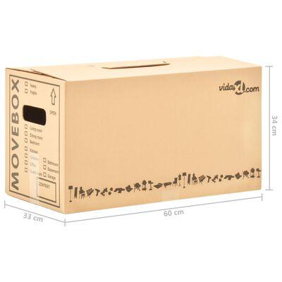 vidaXL Boîtes de déménagement Carton XXL 200 pcs 60x33x34 cm