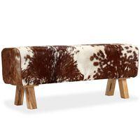 vidaXL Banc Cuir véritable de chèvre 120 x 30 x 45 cm
