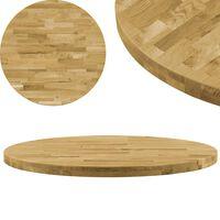 vidaXL Dessus de table Bois de chêne massif Rond 44 mm 500 mm