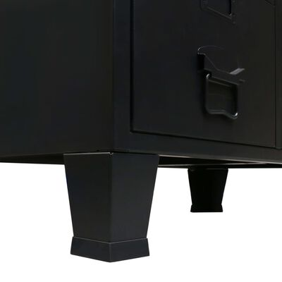 vidaXL Garde-robe Métal de style industriel 67 x 35 x 107 cm Noir