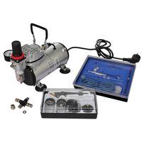 vidaXL Kit de compresseur d'aérographe avec 2 pistolets